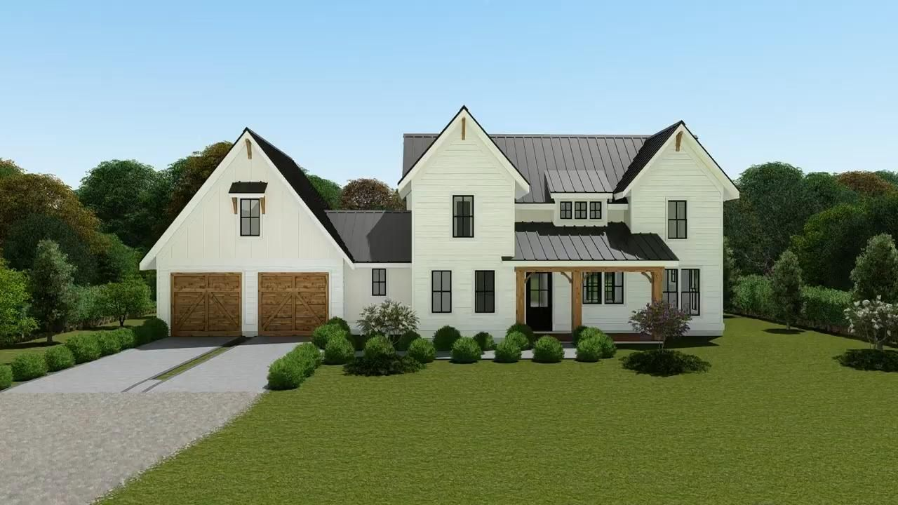 Modern Farmhouse Plan 3571
