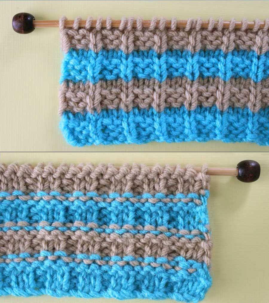 how to change colors in knitting without a line