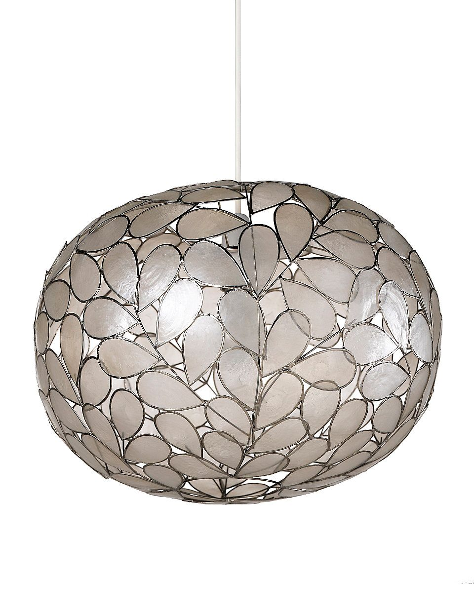 Large Oval Capiz Shell Shade | M&S