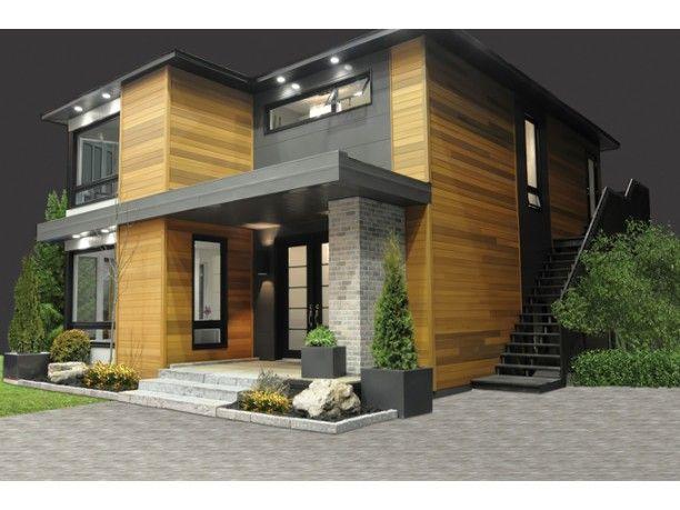 Plano grandiosa casa de dos pisos de 298 M2 Casas modernas