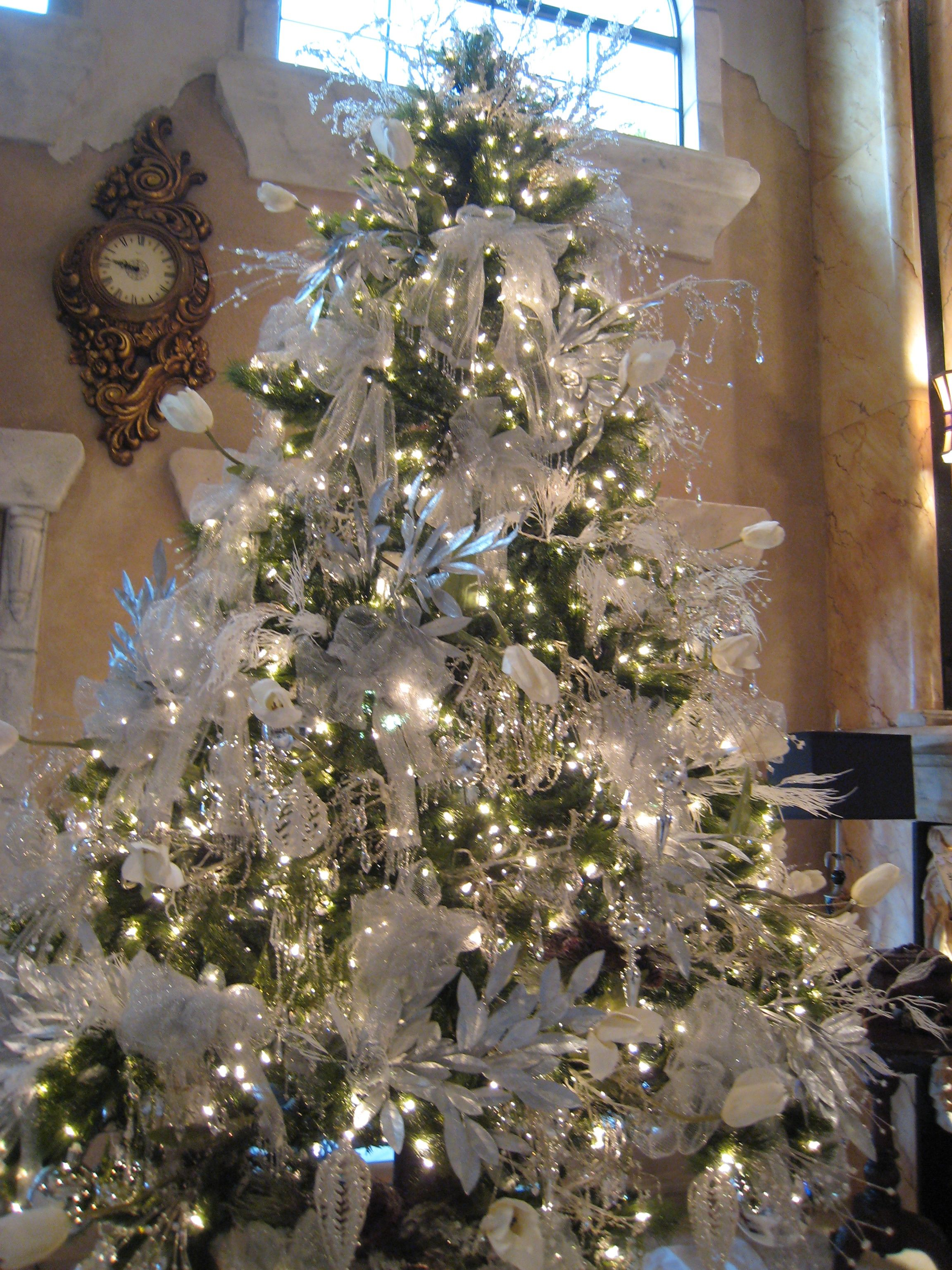 Icy Silvery Sparkly Tree Holiday Christmas Tree Diy Christmas Decorations Easy Christmas Decor Diy
