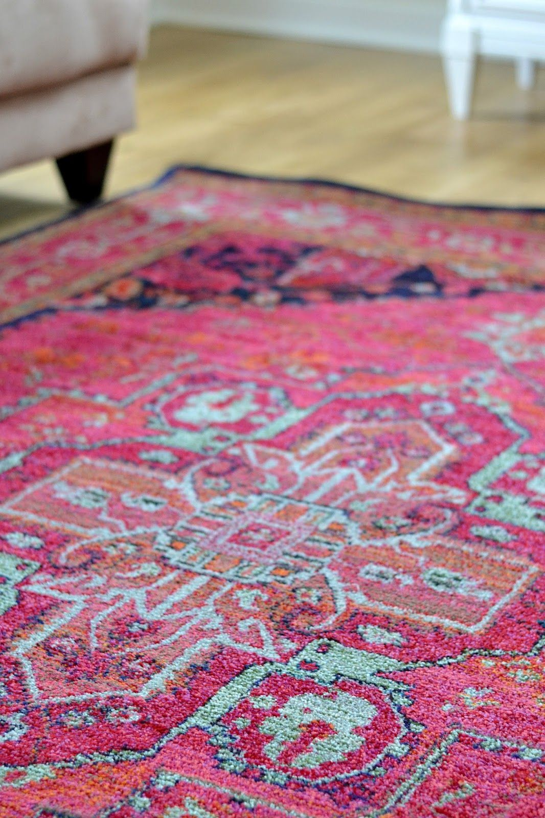How To Easily Update Thrift Store Art Pink And Blue Rug Pink