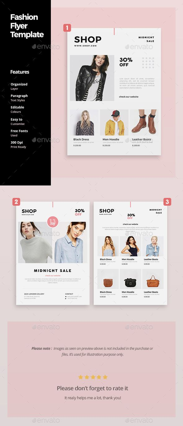 Fashion Flyer Template  Flyer Template Template And Font Logo