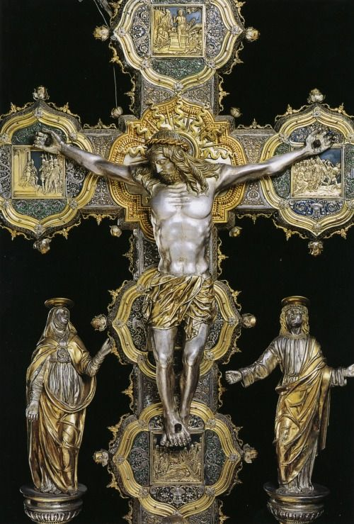 Crucifix by Giovanni Francesco delle Croci, the beginning of the 16th century, Brescia, Church of St. Francis of Assisi