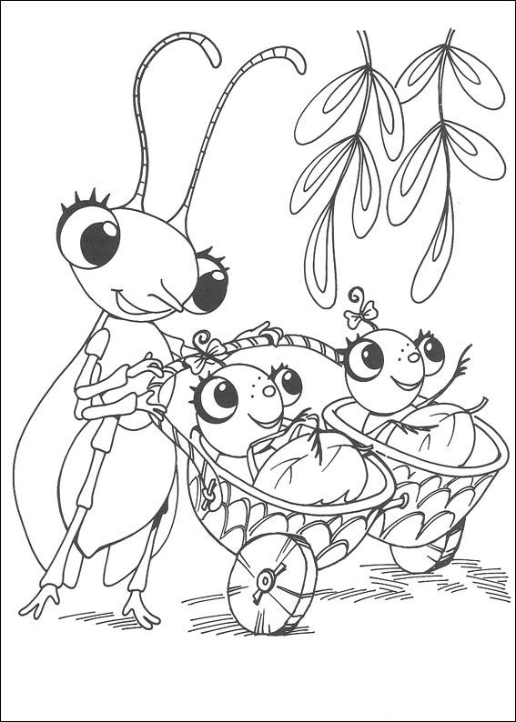 miss spider coloring pages 12