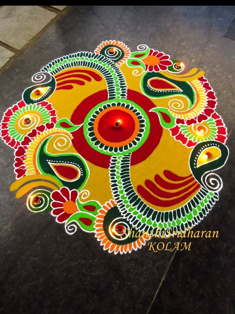 Pin by prachi mishra on rangoli pinterest diwali for Floor rangoli design