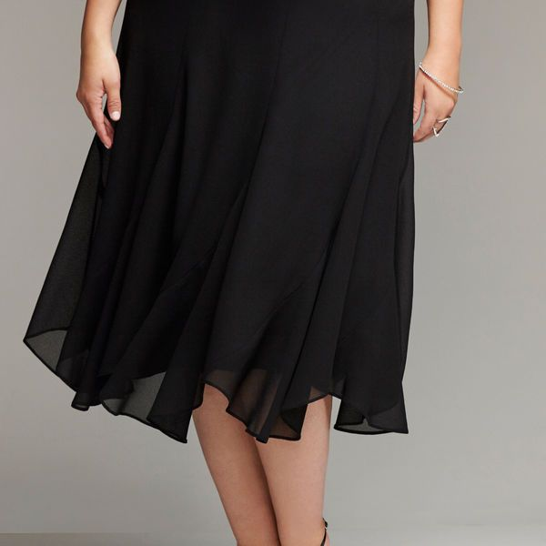 Scalloped Chiffon Skirt-Plus Size Special Occasion Skirt-Avenue
