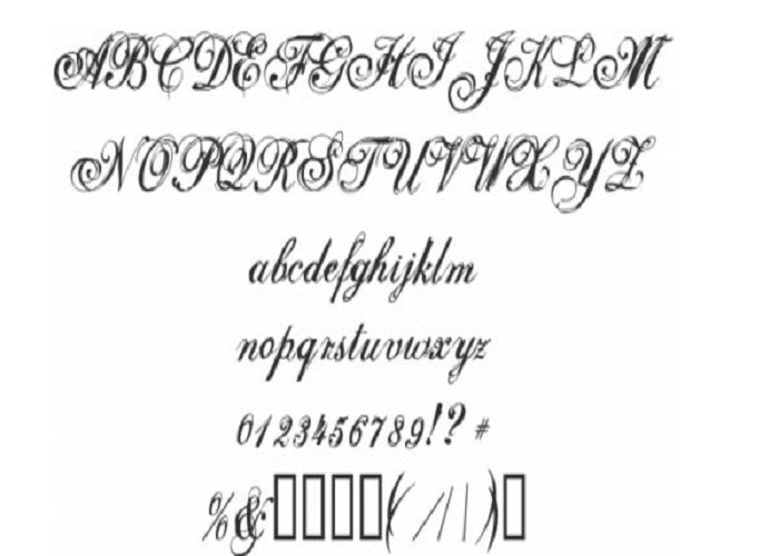 Cursive Tattoo Fonts: Gorgeous Curly Cursive Font Tattoos ...