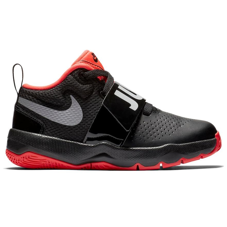 save off 089fc f66b3 Nike Team Hustle D 8 JDI Preschool Boy s Basketball Shoes, Size  3, Black