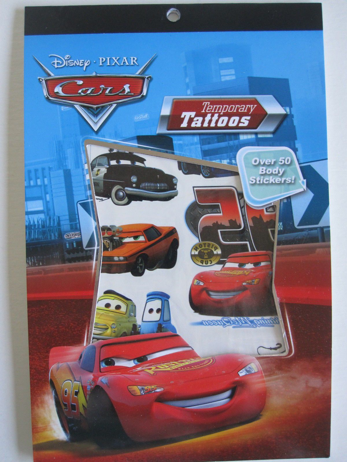 Disneys Cars Temporary Tattoo Book Party Accessory by Disney