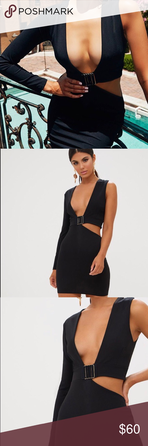 a18d2cc7ed7 Black Cut Out Trim Detail Asymmetric Bodycon Dress BRAND NEW  NEVER WORN  WITH TAGS ✨ Add this asymmetric mini to your LBD collection - featuring  asymmetric ...