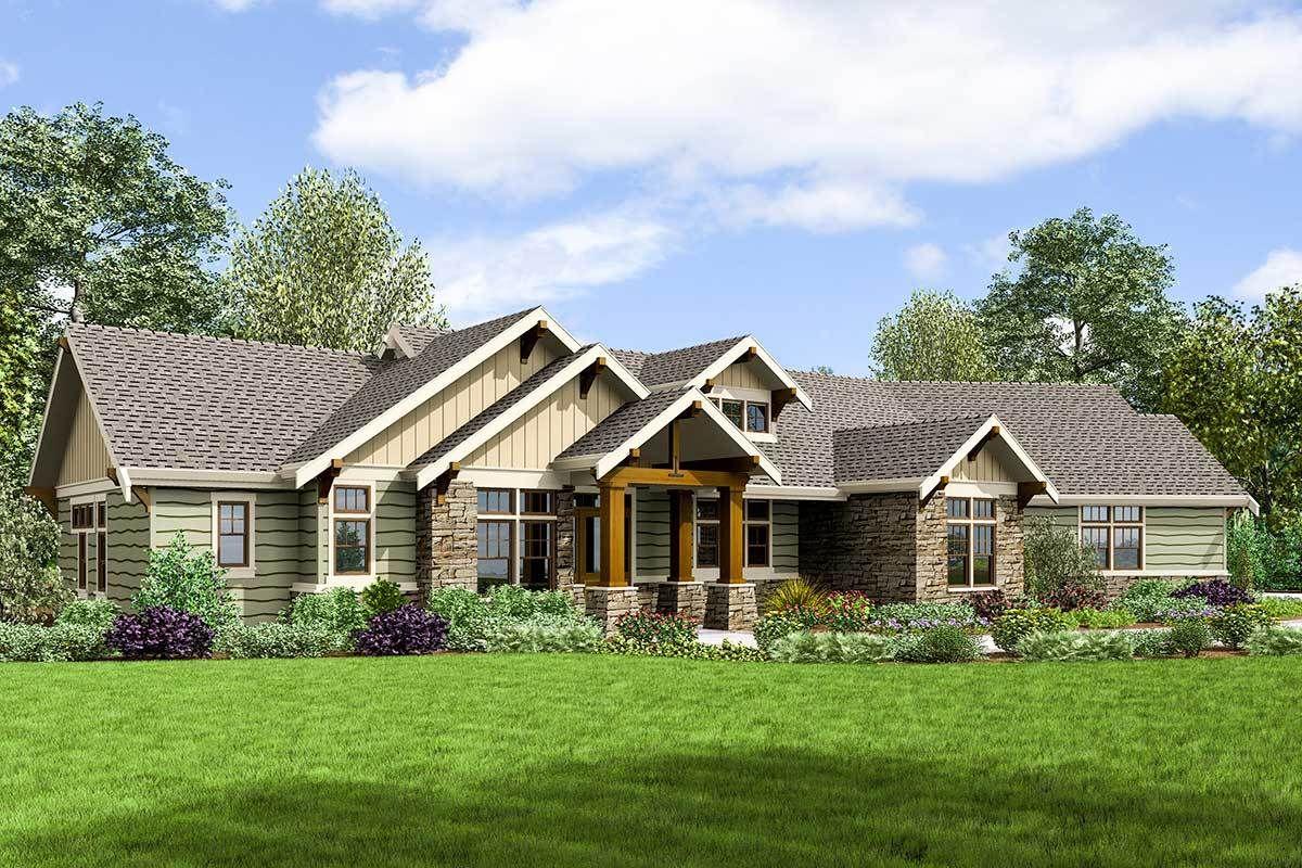 Handsome Craftsman House Plan 69677AM