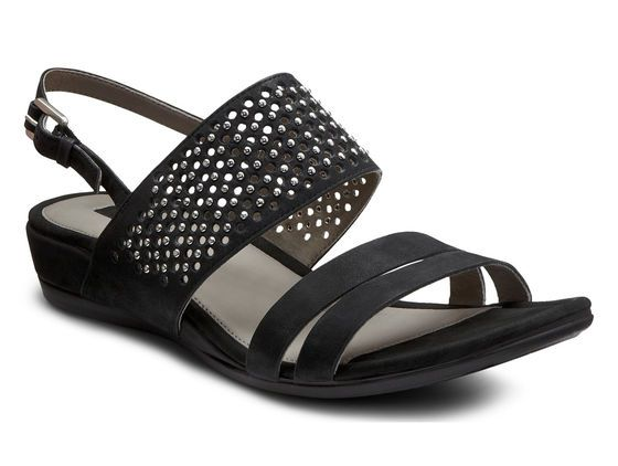 These pretty Ecco sandals would be easy to dress up at night