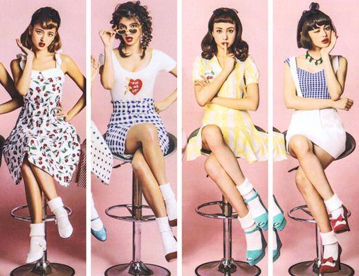 レトロな雰囲気漂う♡Katieの春夏コレクション・Paris Pin-up!が可愛い!!   mery [メリー]