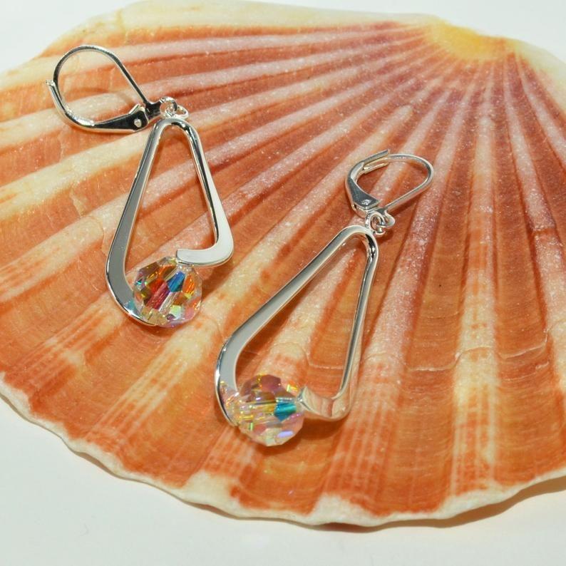 50th birthday gift for women dangle earrings 50th birthday