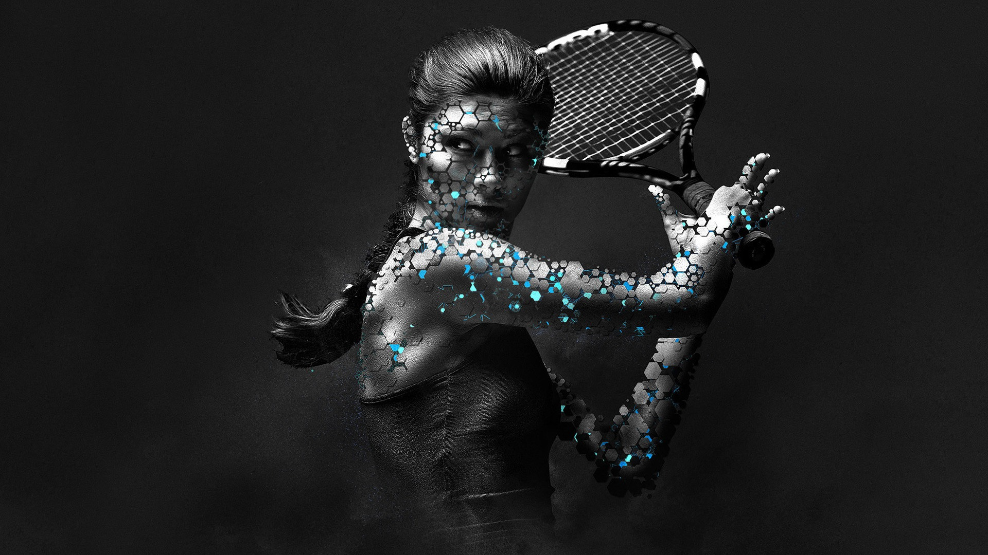 Woman Tennis Player 1080p Hd Wallpaper Sports Photoshop Design Sports Advertising Photoshop Wallpapers