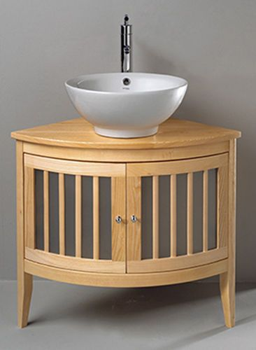 Contemporary Corner Washbasin Cabinet