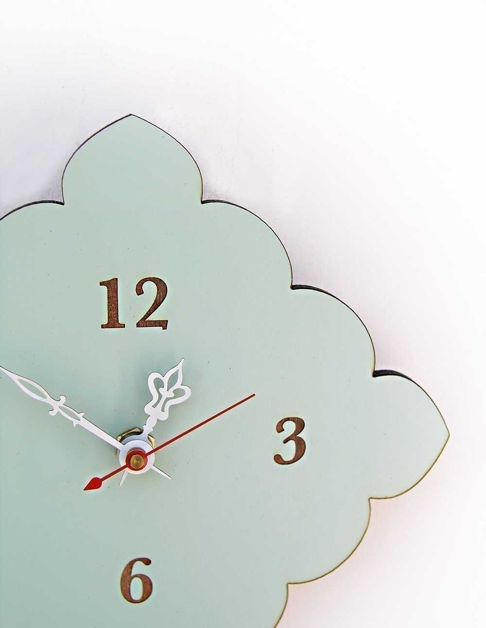 Tiny scallop clock in vintage blue | Dream Closet | Pinterest ...