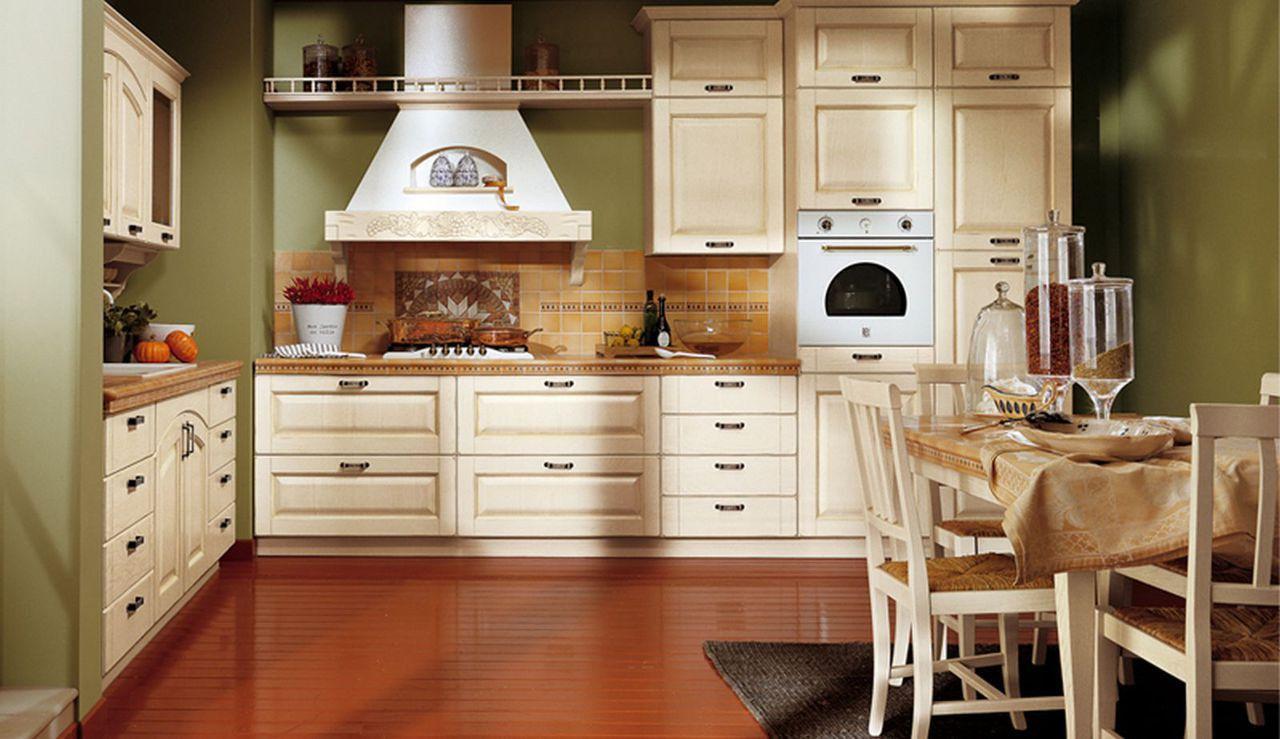 Cocina clasica en blanco y paredes verdes | Cocina | Pinterest