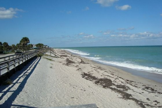 This Beautiful Beach In Beachside Downtown Vero Is Uncrowded And Typical Of The Nice Sand