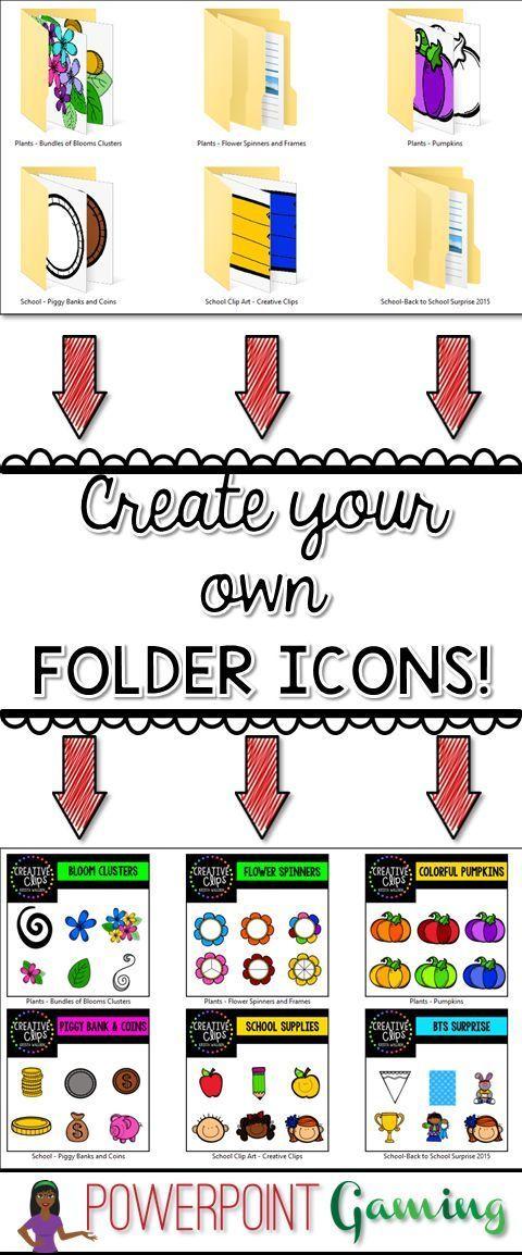 Change your File Folder icon! Folder icon, Teacher blogs