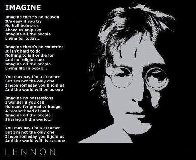 John Lennon S Imagine Lyrics Imagine Lyrics Imagine John Lennon John Lennon