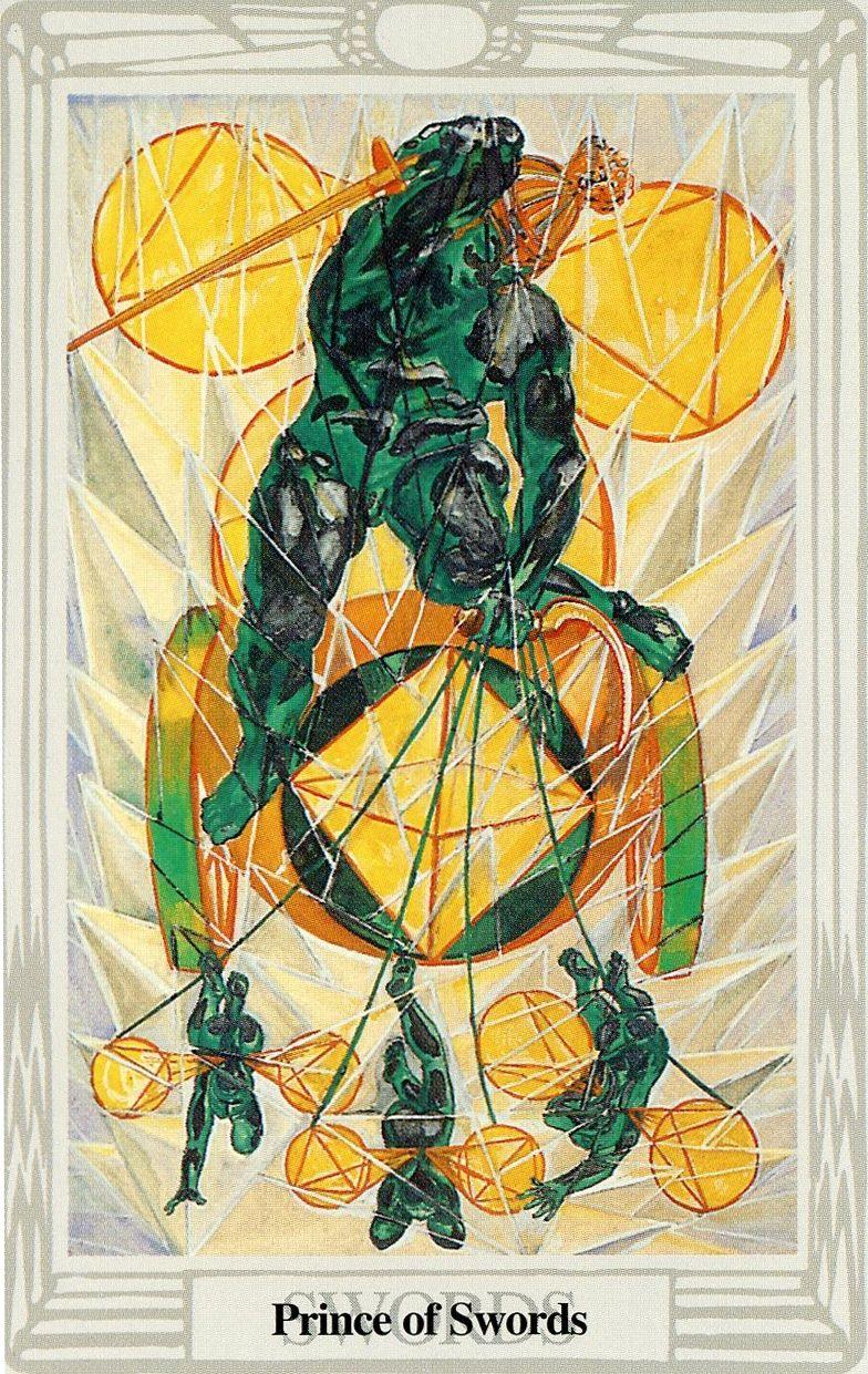 Tarot D The Didactic Tarot By Jeffrey M Donato: Le Roi D'épées (Prince)