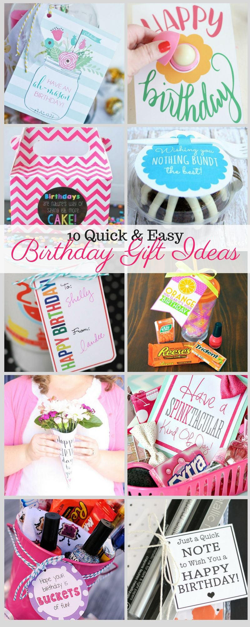 10 Quick And Easy Birthday Gift Ideas Liz On Call
