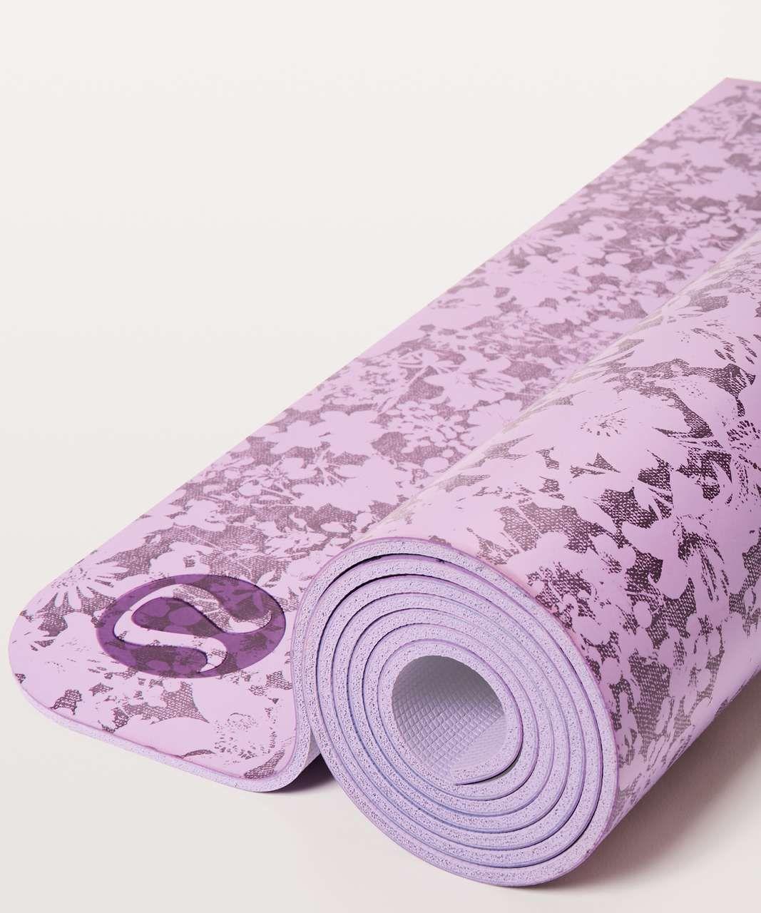 Lululemon The Reversible Mat 5mm Efflorescent Violetta Smoked Mulberry Violetta Lulu Fanatics Lululemon Yoga Mat Yoga Women Lululemon Mat