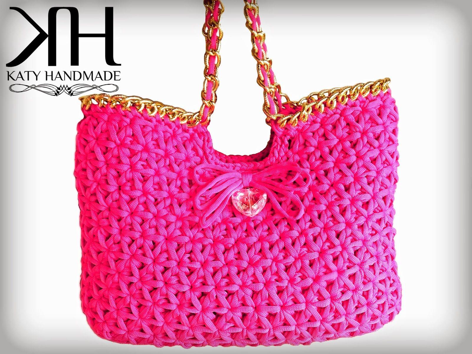Katy Handmade Tutorial Punto Stella A Modo Mio вязание Taschen