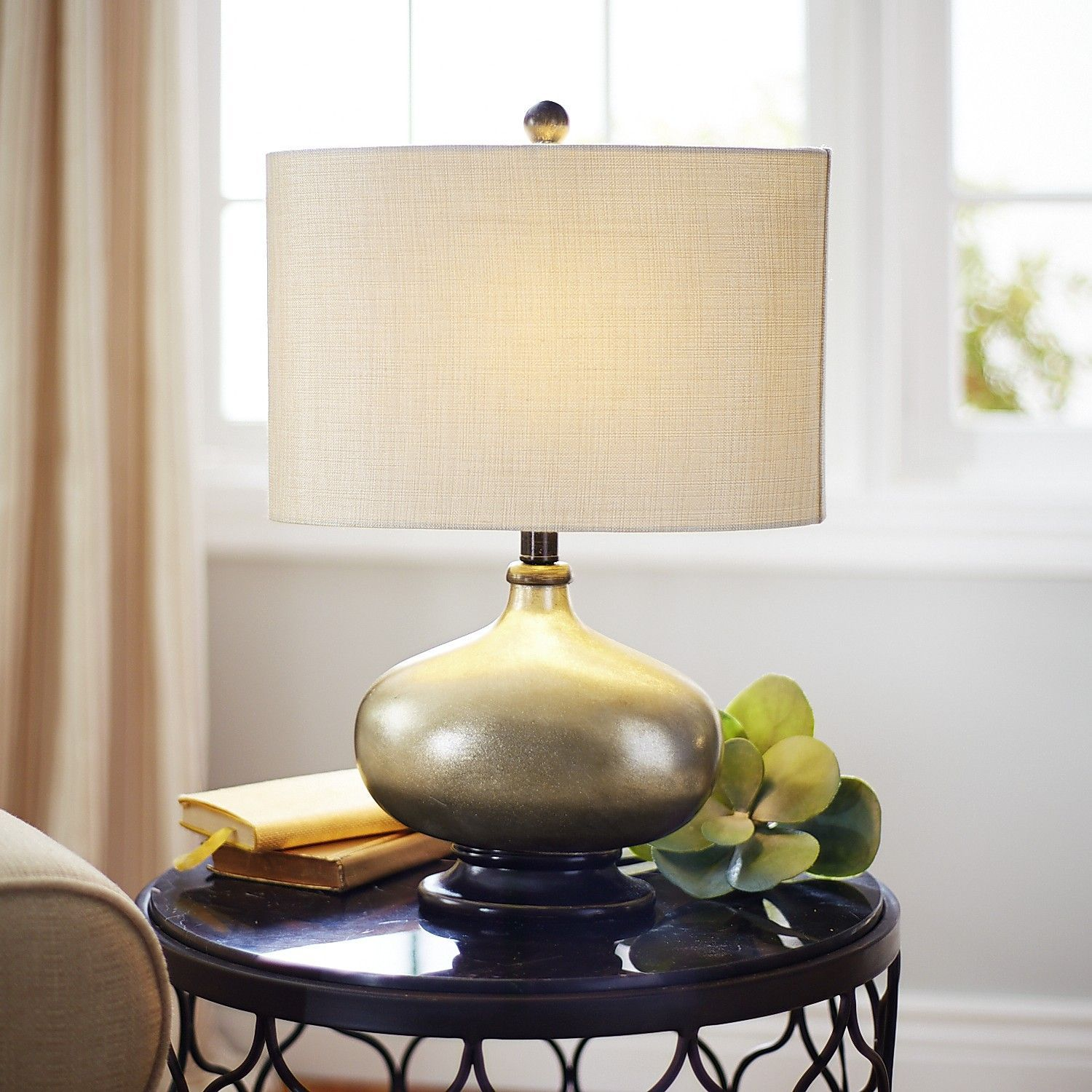Champagne Colored Floor Lamp