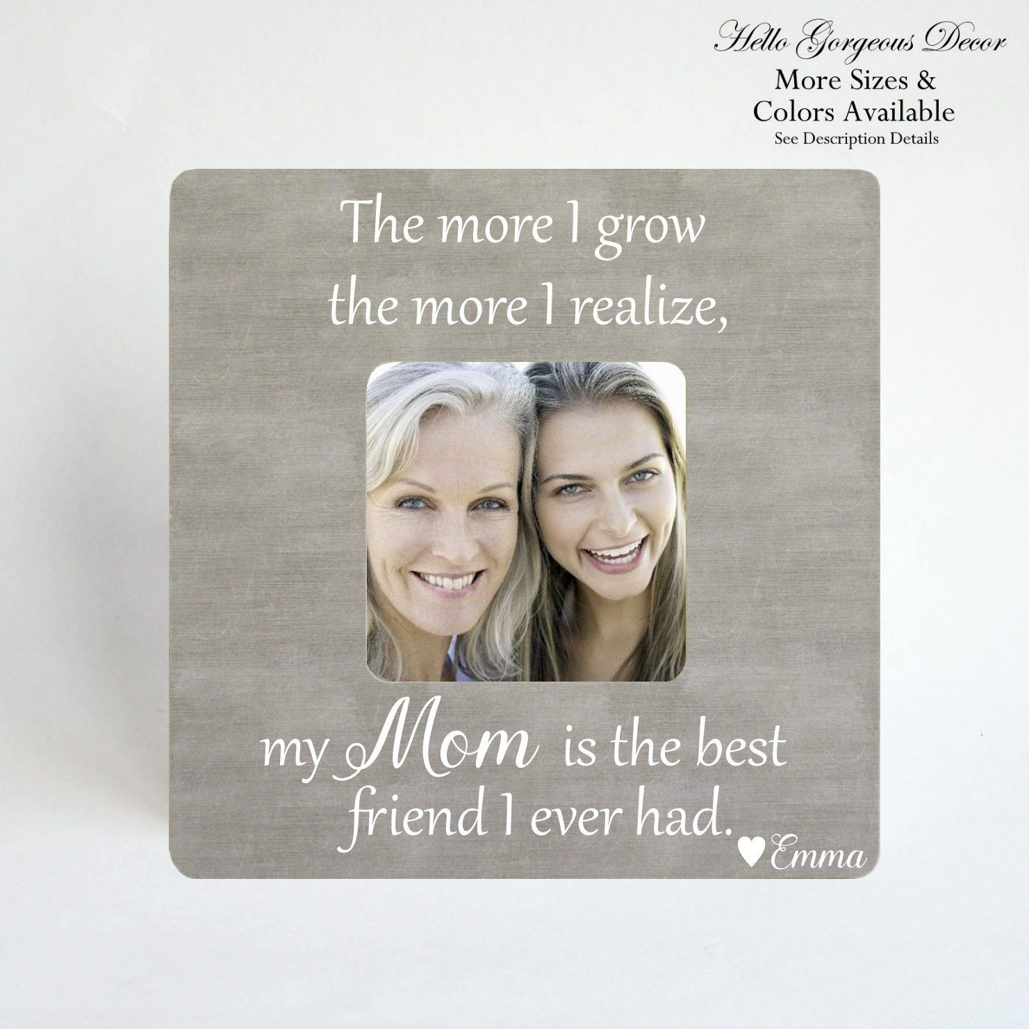 Mom Mother S Day Gift From Daughter Son Personalized Gift For Mom Gift For Mother Mother Daughter Mother Son Frame Mom Best Friend Personalized Gifts For Mom Mothers Day Gifts From