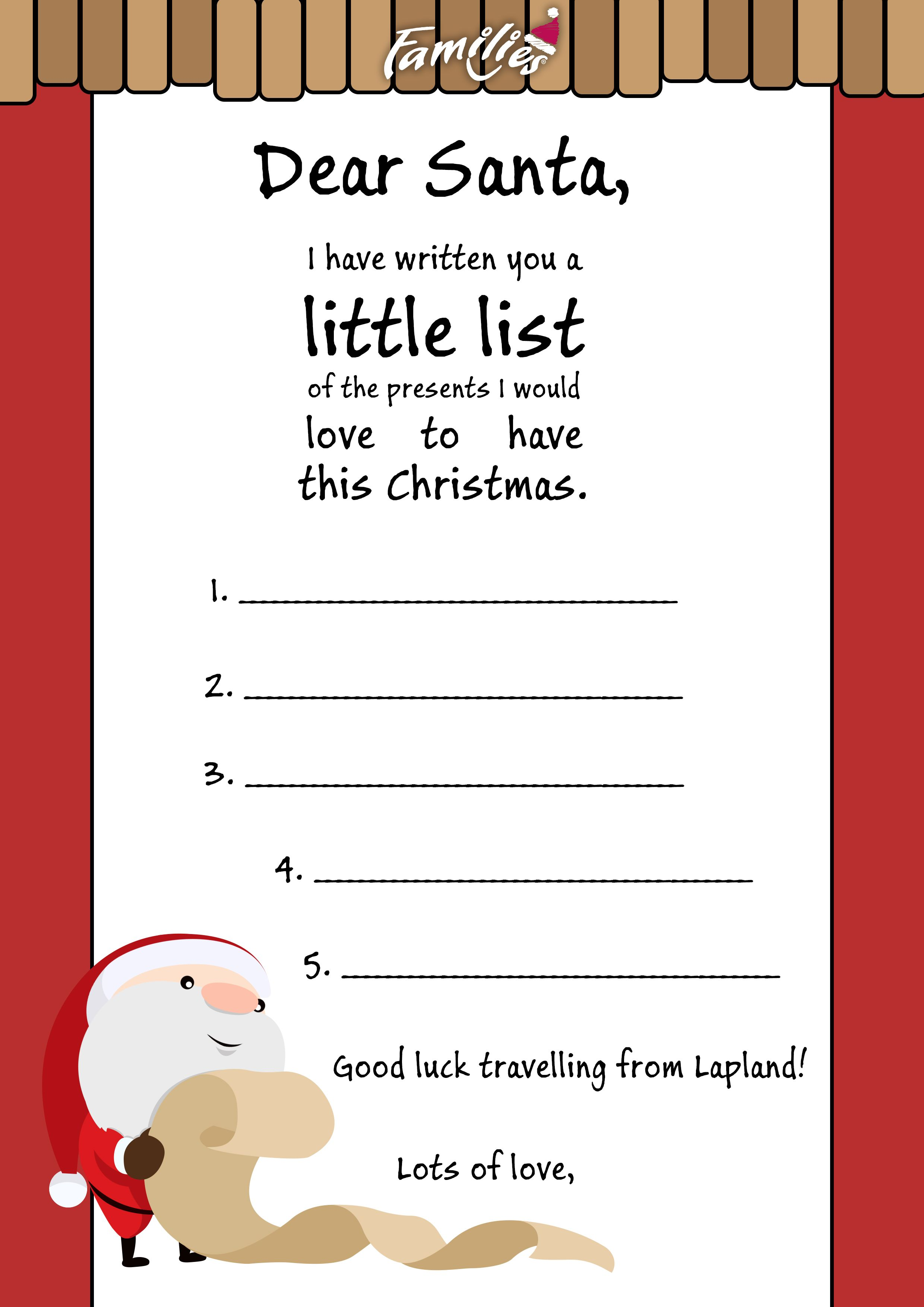 Download Your Letter To Santa Choose  Of Our  Downloadable