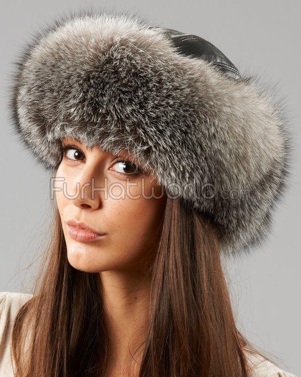 Silver Fox Fur Roller Hat http   www.furhatworld.com silver 3d9b997f5836