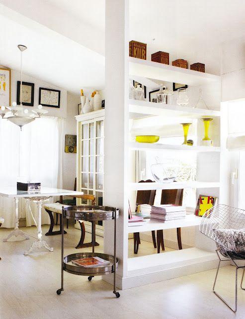 French By Design An Antique Dealer S Loft Room Divider Shelves Room Deviders Home
