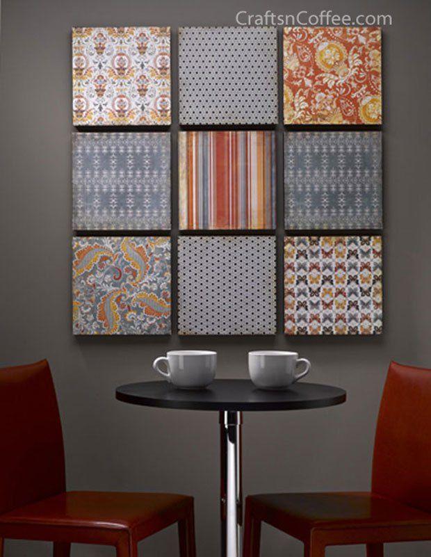 DIY-Scrapbook-Wall-Art-Warm | Craft Ideas/DIY | Pinterest ...