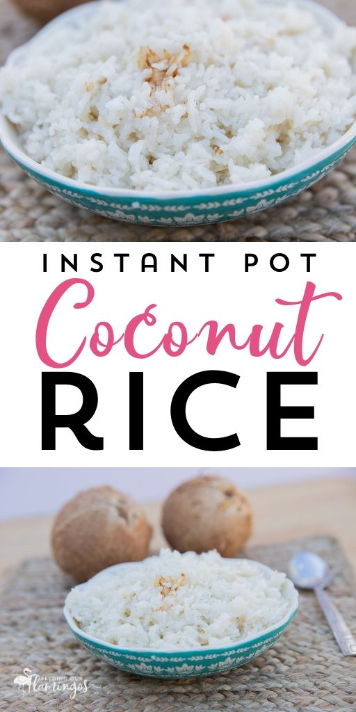 Savory Coconut Rice (Instant Pot) #ricecookermeals