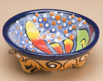Small Mexican Footed Painted Salsa Bowl (p479)