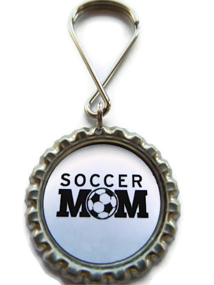 SOCCER MOM Keychain Party Favor Birthday Party Favor by AllSports, $2.50