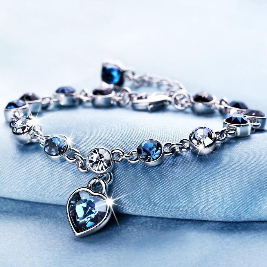Fashion bracelet hot wedding female crystal bracelets for women