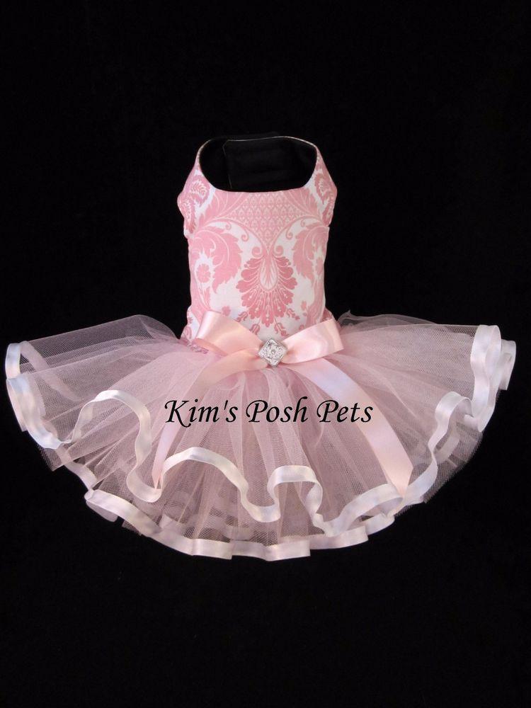 Pink Damask Ribbons Tutu Dress XS _handmade #HandMadebyKim_ Facebook ...