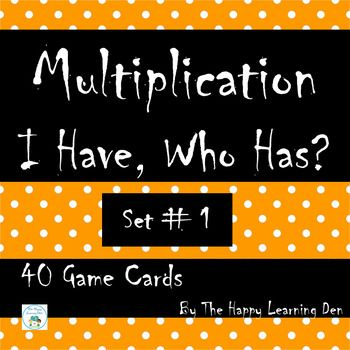 Halloween Multiplication I Have, Who Has Game (Set 1) | Halloween ...