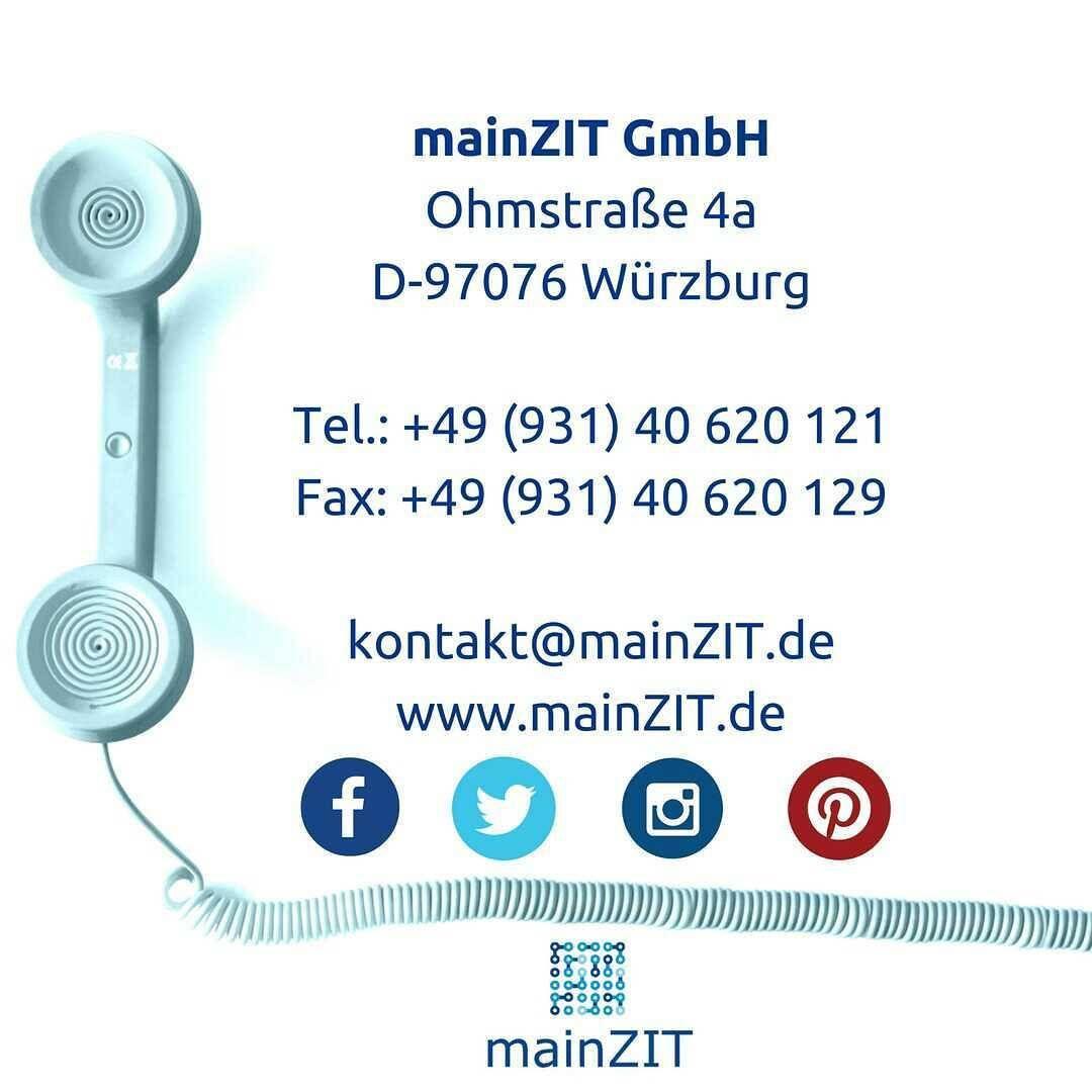 Alles auf einen Blick:  Die mainZIT GmbH in Würzburg. Auf diesen Wegen kannst du uns kontaktieren. Such dir einfach deinen Lieblingskontaktweg aus!  Wir freuen uns von dir zu hören oder zu lesen . Die mainZIT GmbH entwickelt für unterschiedliche Geschäftsideen maßgeschneiderte Kundenkonzepte angefangen von Marktrecherchen, Namensgebung, Entwicklung von Logovarianten, Geschäftsunterlagen wie Briefpapier, Visitenkarten, Flyer, Prospekte usw. sowie Webauftritt und (Online)-Marketing…