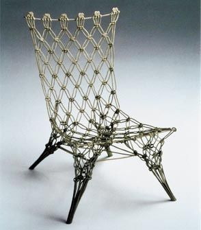 Droog Design - 'Knotted Chair', 1996 produced and distributed by cappellini. #chair #wire #furniture