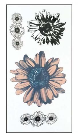 Katelyn sunflower temporary tattoo type tattoo for Sunflower temporary tattoo
