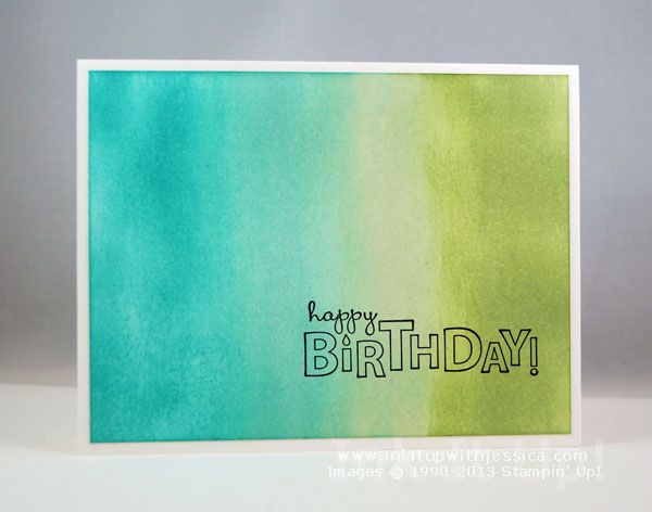 Sponged Background Birthday Card