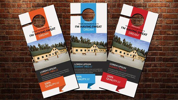 Real Estate Door Hanger Template By Psd Templates On