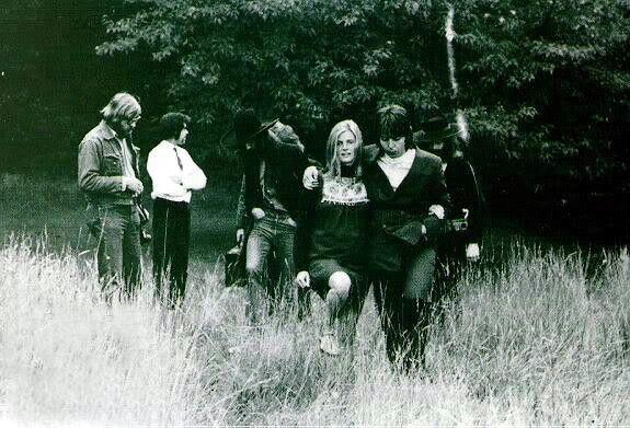 Paul and Linda McCartney.