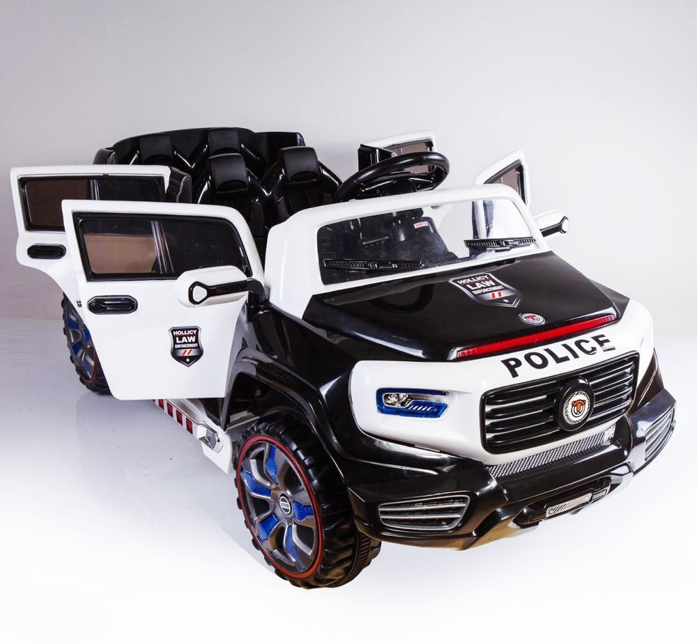 2 Seats Police Truck Ride On Car Kids Child Electric Toy 12 Volts Remote Control Ebay Electrictoys Toy Toys Toy Car Toy Cars For Kids Jump A Car Battery