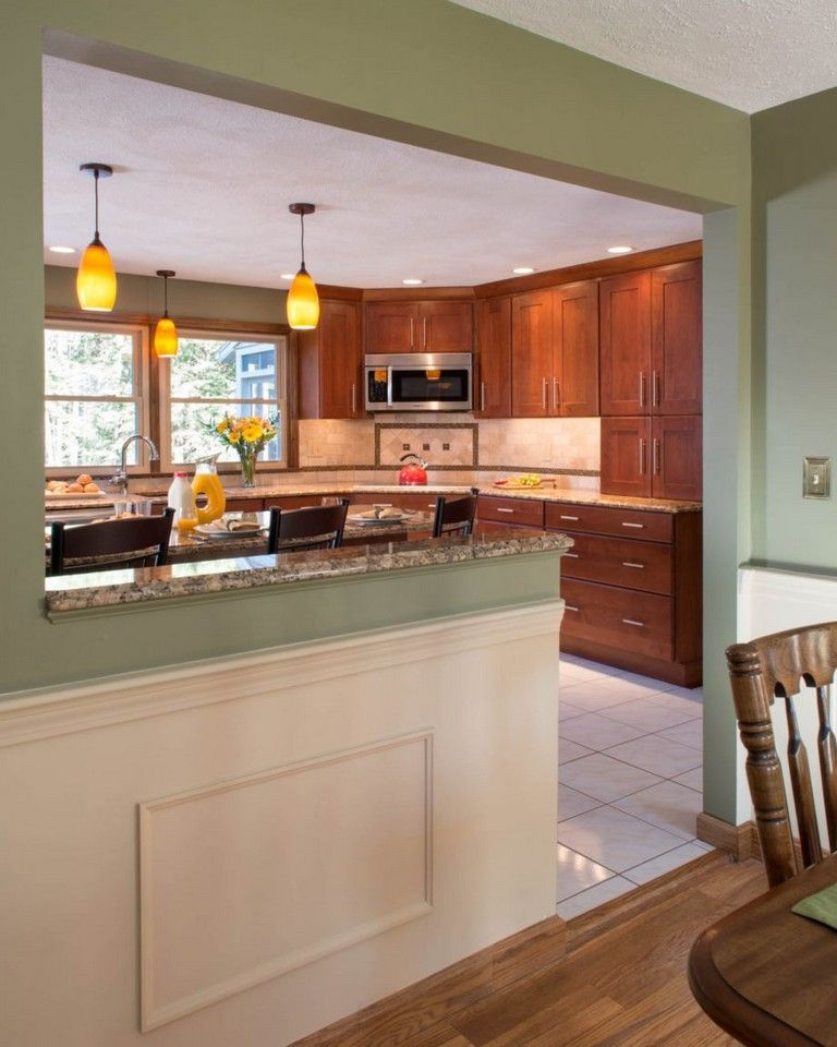 25 Awesome Traditional Kitchen Design: 58+ AWESOME HALF WALL KITCHEN DESIGNS IDEAS
